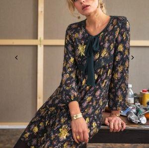 Sézane Gold Stars Silk Dress